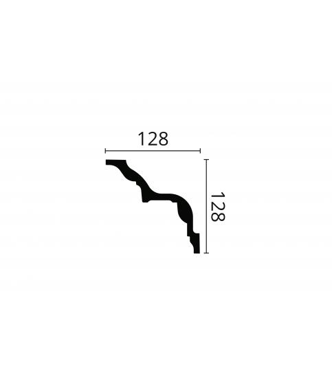 Cornisa alba decorativa poliuretan Z24 128x128x2000