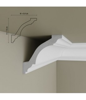 Cornisa Tavan Decorativa Polimer Rigid C14 7.8x8.5x200