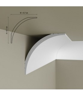 Cornisa Tavan Decorativa Polimer Rigid C16 8.7x8.7x200
