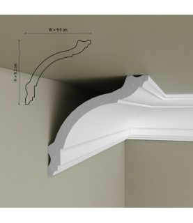 Cornisa Tavan Decorativa Polimer Rigid C17 9.3x9.5x200