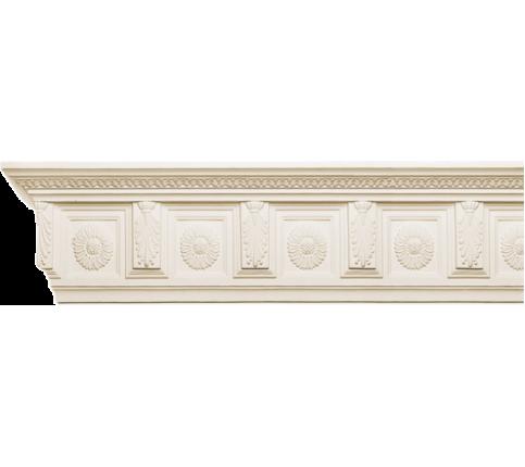 Cornisa alba decorativa poliuretan C711 21x11.4x200