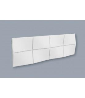 Panou alb decorativ 3D Arstyl BUMP 380X1135X43