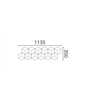 Panou Alb Decorativ 3D Arstyl CUBE 350X1135X24