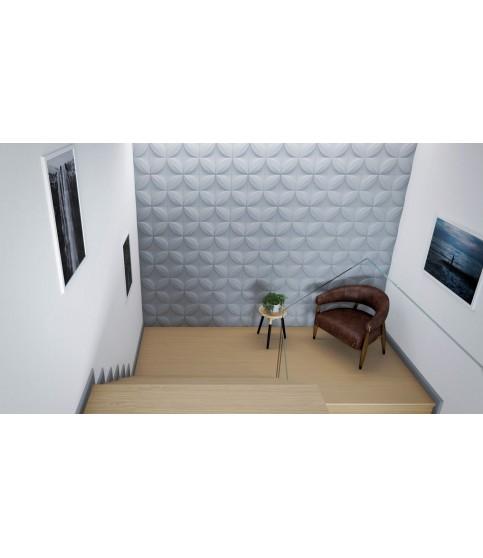 Panou Alb Decorativ 3D Arstyl FLOWER 380X1135X28
