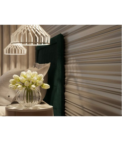 Panou Alb Decorativ 3D W342 2X60X120