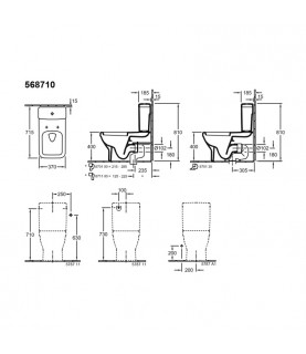 Rezervor Villeroy & Boch, Architectura, monobloc pentru vas WC compact