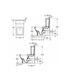 Vas WC stativ Villeroy & Boch, Architectura, dreptunghiular, alb alpin