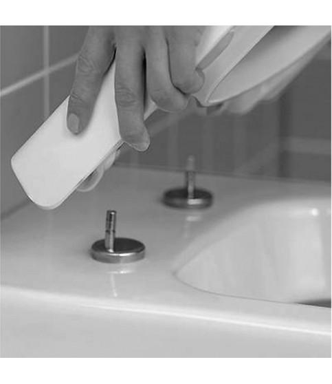 Set vas WC suspendat Villeroy & Boch, Architectura, rotund, cu capac soft close,quick release alb alpin
